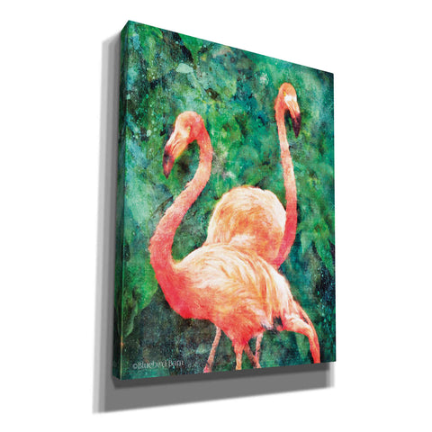 Image of 'Flamingos' by Bluebird Barn, Canvas Wall Art,Size C Portrait