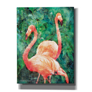 'Flamingos' by Bluebird Barn, Canvas Wall Art,Size C Portrait