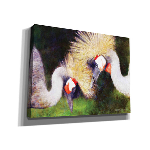 Image of 'Two Cranes' by Bluebird Barn, Canvas Wall Art,Size B Landscape