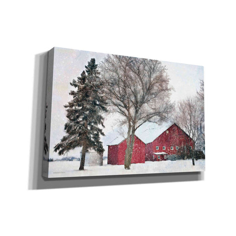 Image of 'Snowy Barn' by Bluebird Barn, Canvas Wall Art,Size A Landscape
