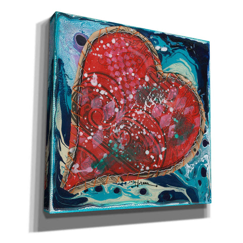 'Stitched Red Heart I' by Denise Braun, Giclee Canvas Wall Art