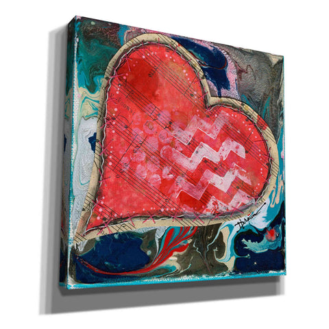 Image of 'Stitched Red Heart II' by Denise Braun, Giclee Canvas Wall Art
