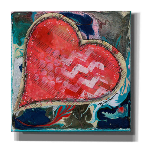 'Stitched Red Heart II' by Denise Braun, Giclee Canvas Wall Art
