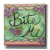 'Bite Me' by Denise Braun, Canvas Wall Art,Size 1 Square