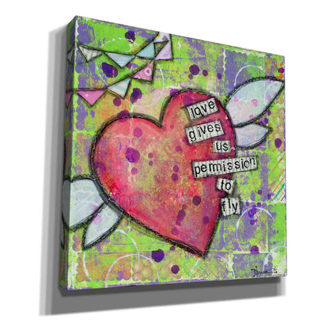 "Image of ""Love Gives Us Permission"" by Denise Braun, Giclee Canvas Wall Art"