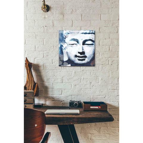'Peaceful Buddha II' by Linda Woods, Canvas Wall Art,12 x 12