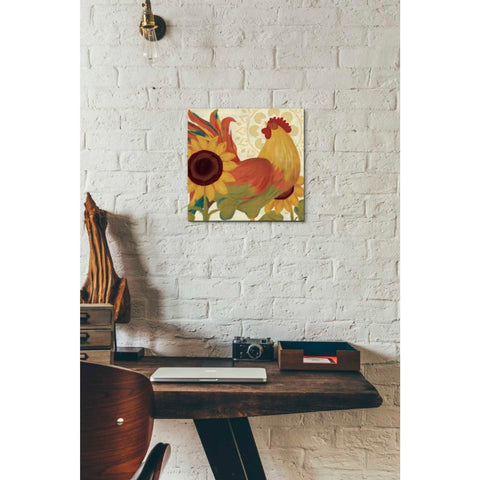 'Spice Roosters II' by Veronique Charron, Giclee Canvas Wall Art