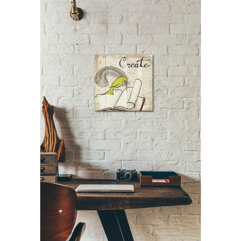 Image of 'Bird Inspiration Create' by Elyse DeNeige, Giclee Canvas Wall Art