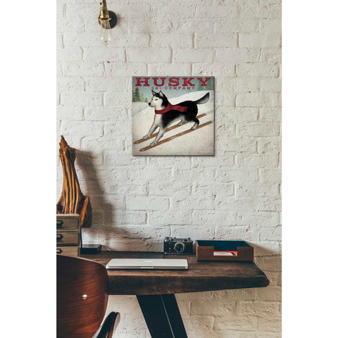 'Husky Ski Co' by Ryan Fowler, Giclee Canvas Wall Art