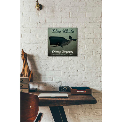 'Barnacle Whale Diving Co' by Ryan Fowler, Giclee Canvas Wall Art