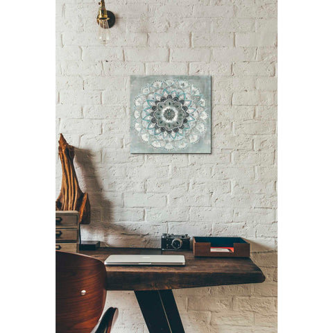 'Teal Sunburst' by Danhui Nai, Giclee Canvas Wall Art