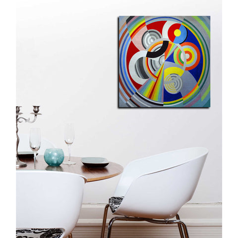 Image of 'Rythme n1' by Robert Delaunay Canvas Wall Art,12 x 12
