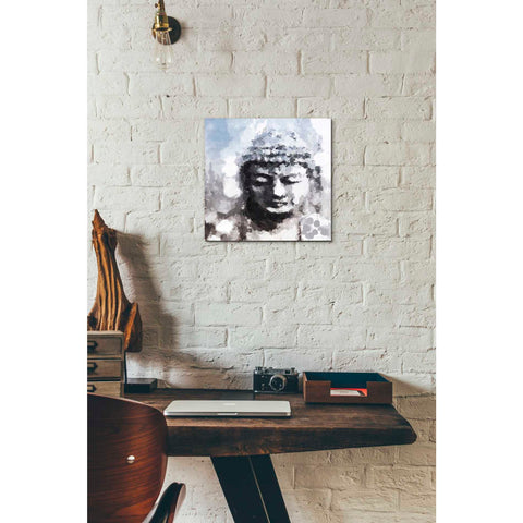'Peaceful Buddha I' by Linda Woods, Canvas Wall Art,12 x 12