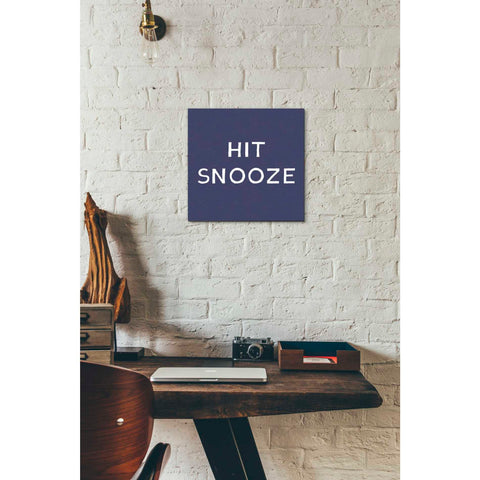 'Hit Snooze' by Linda Woods, Canvas Wall Art,12 x 12