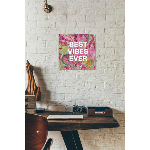 'Best Vibes Ever' by Linda Woods, Canvas Wall Art,12 x 12