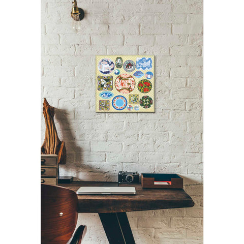 'Japanese Antique Plates' by Zigen Tanabe, Giclee Canvas Wall Art