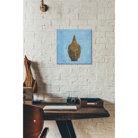 'Buddha on Blue' by Elena Ray Canvas Wall Art,12 x 12