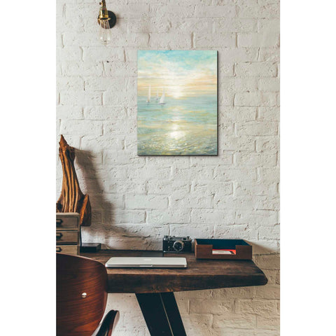 Image of 'Sunrise Sailboats I' by Danhui Nai, Giclee Canvas Wall Art