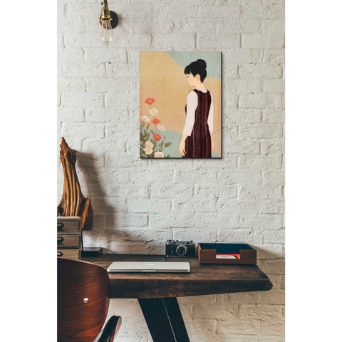 'Poppies and a Woman' by Sai Tamiya, Giclee Canvas Wall Art