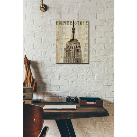 'Vintage NY Empire State Building' by Michael Mullan, Canvas Wall Art,12 x 16