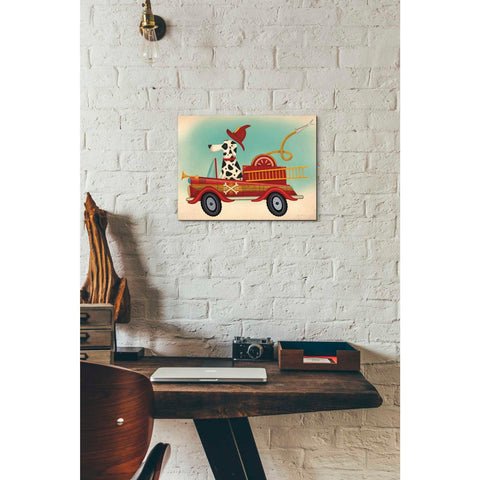 Image of 'K9 Fire Department' by Ryan Fowler, Giclee Canvas Wall Art