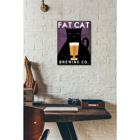 'Cat Brewing no City' by Ryan Fowler, Giclee Canvas Wall Art