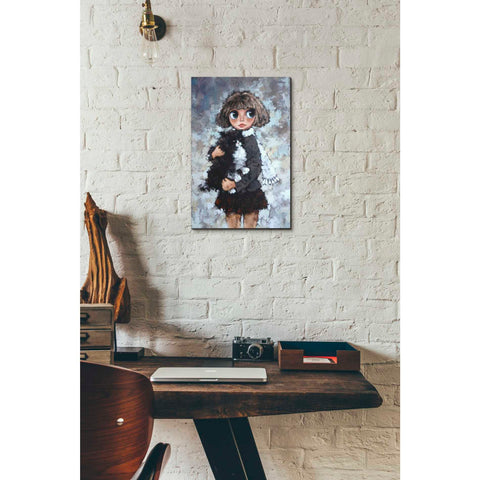 Image of 'Girl With Cat' by Alexander Gunin, Canvas Wall Art,12 x 16