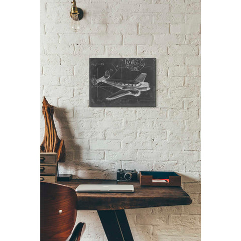'Flight Schematic IV' by Ethan Harper Giclee Canvas Wall Art