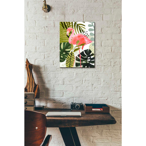 'Flamingo Forest I' by Victoria Borges Giclee Canvas Wall Art