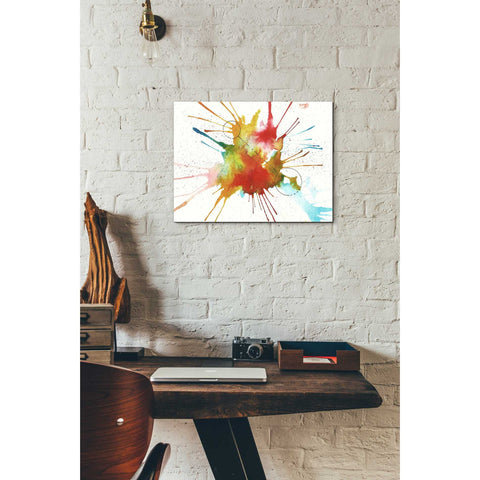 Image of 'Watercolor Splat' by Craig Snodgrass, Canvas Wall Art,12 x 16