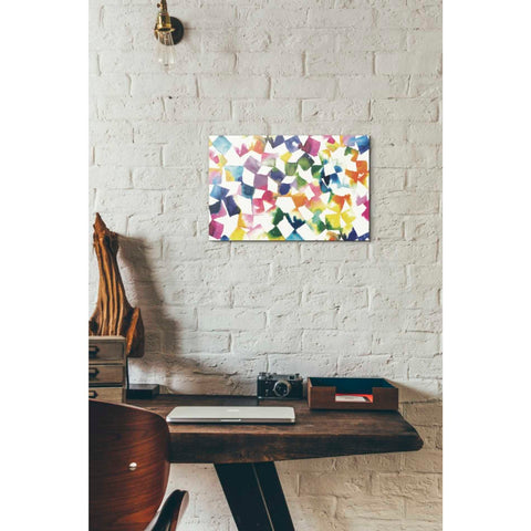 'Colorful Cubes' by Wild Apple Portfolio, Canvas Wall Art,12 x 18
