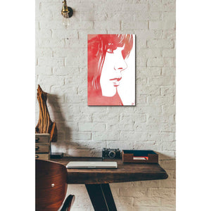 'Portrait in Red' by Giuseppe Cristiano, Giclee Canvas Wall Art