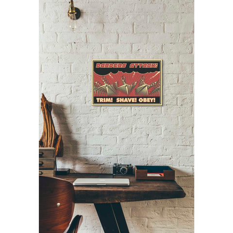 'Barbershop' Giclee Canvas Wall Art