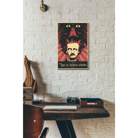 Image of 'Poe' Giclee Canvas Wall Art
