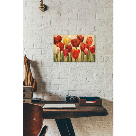 'Tulip Fantasy on Cream' by Marilyn Hageman, Giclee Canvas Wall Art