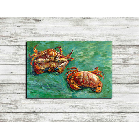 'Two Crabs' by Vincent Van Gogh Canvas Wall Art,12 x 18
