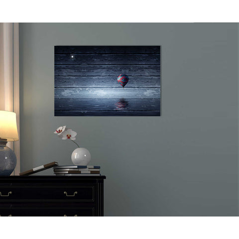"Image of ""Wood Series: One Air Balloon"" Giclee Canvas Wall Art"