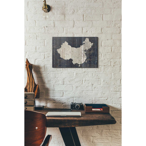'Old World Map China' by Wild Apple Portfolio, Canvas Wall Art,12 x 18