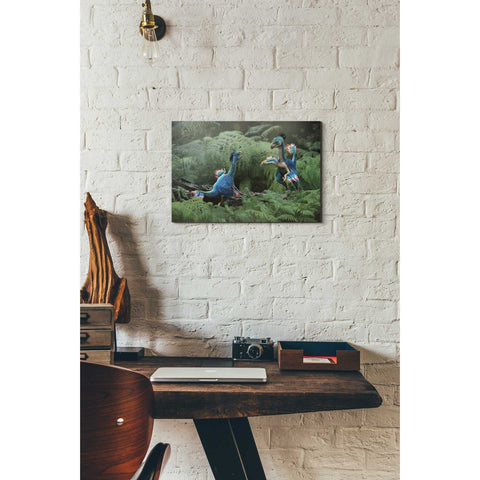 "Image of ""Caudipteryx"" Giclee Canvas Wall Art"