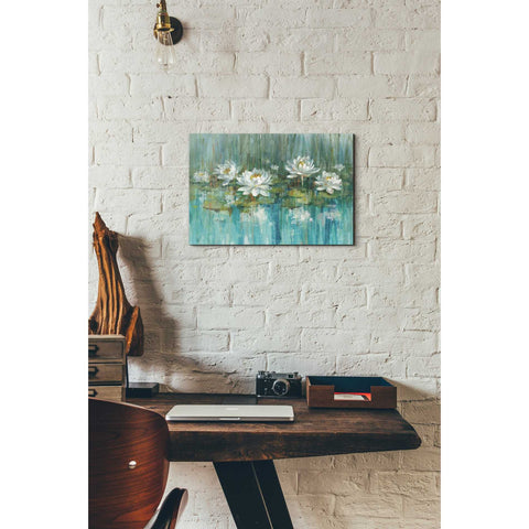 Image of 'Water Lily Pond' by Danhui Nai, Canvas Wall Art,12 x 18