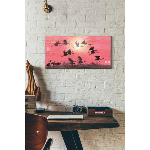 'Siege of Cranes' by River Han, Giclee Canvas Wall Art