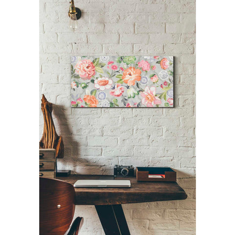 'Summer Garden of Delights Gray' by Danhui Nai, Giclee Canvas Wall Art