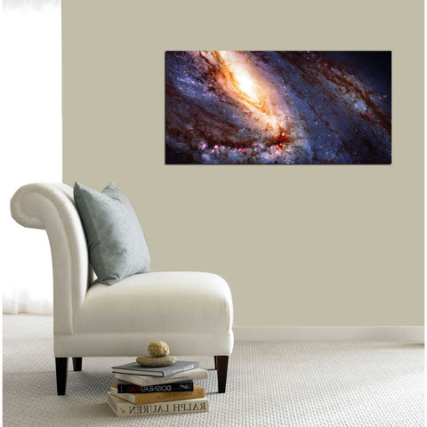 """Messier 66"" Hubble Space Telescope Giclee Canvas Wall Art"