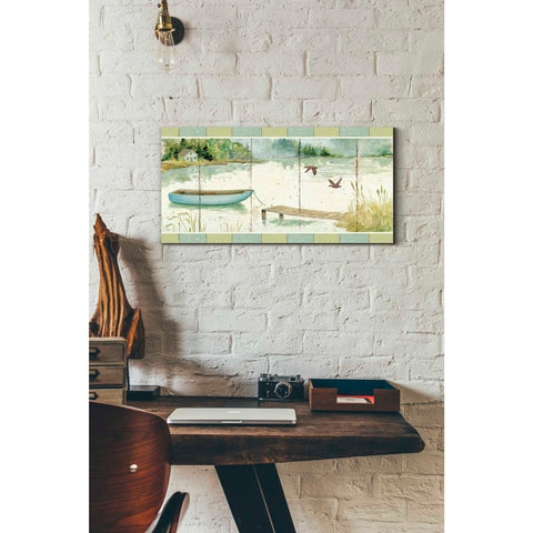 'Lakeside Dock' by Daphne Brissonet, Giclee Canvas Wall Art
