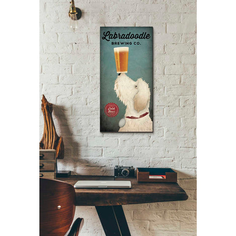 'Labradoodle Brewing' by Ryan Fowler, Giclee Canvas Wall Art