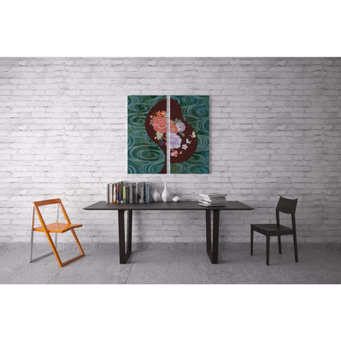 Image of 'Running Water I' by Zigen Tanabe, Canvas Wall Art,12 x 24