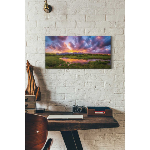 'Grand Sunset in the Tetons' by Darren White, Canvas Wall Art,12 x 24