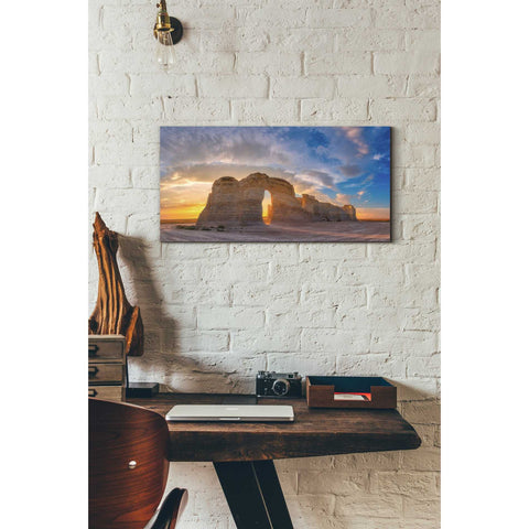 Image of 'Kansas Gold' by Darren White, Canvas Wall Art,12 x 24