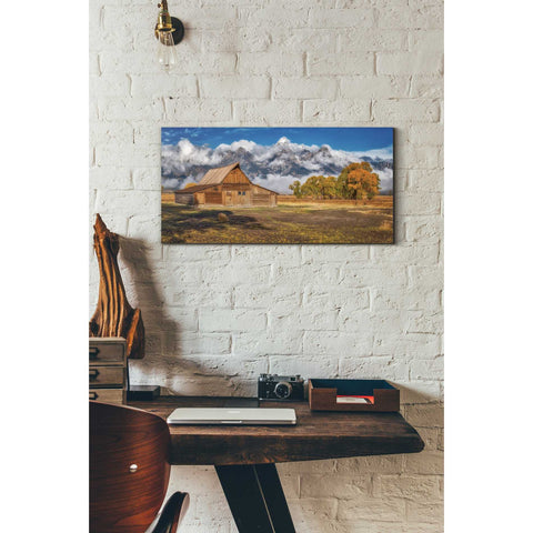 'Warm Morning Light in the Tetons' by Darren White, Canvas Wall Art,12 x 24