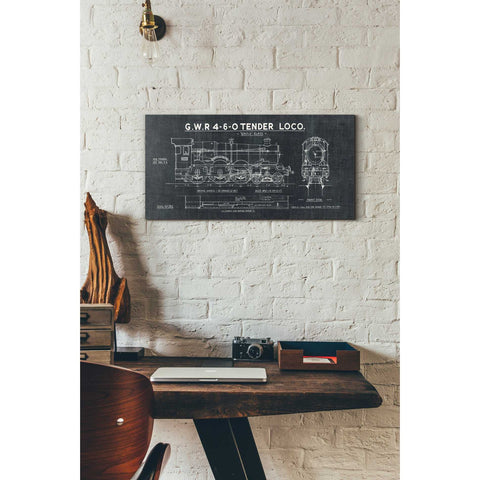 """Train Blueprint III"" by Wild Apple Portfolio, Giclee Canvas Wall Art"